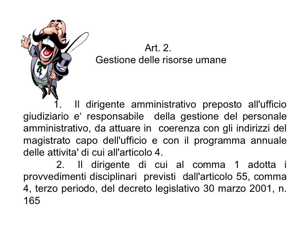 Art. 2. Gestione delle risorse umane