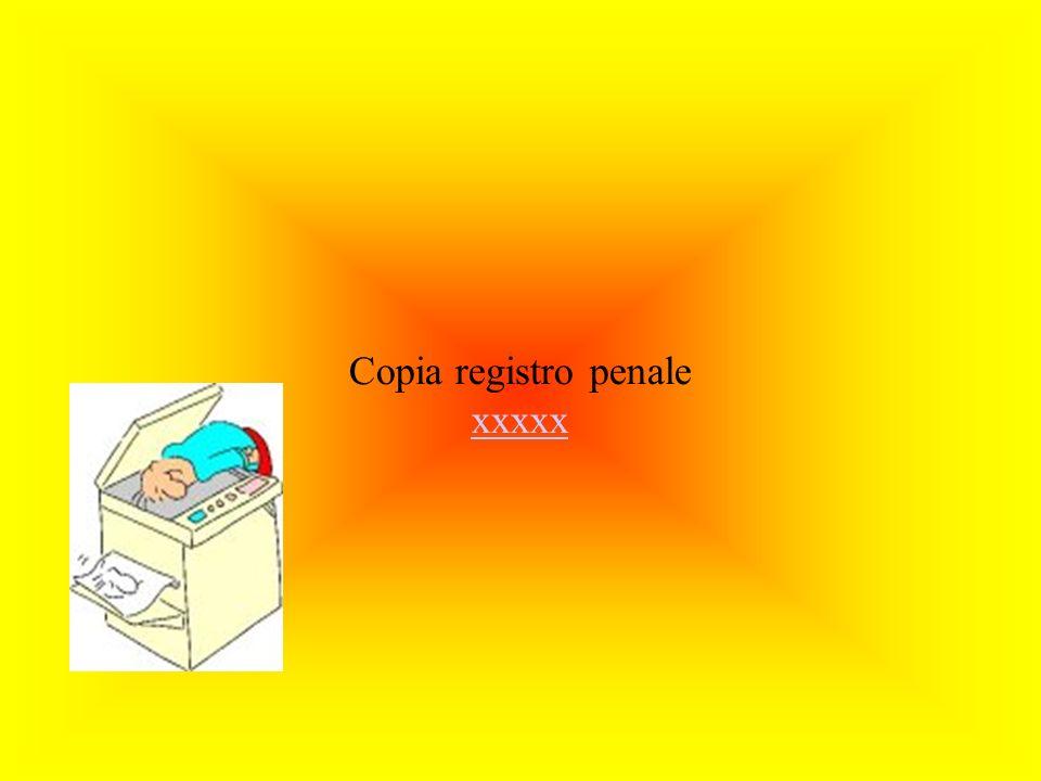 Copia registro penale xxxxx