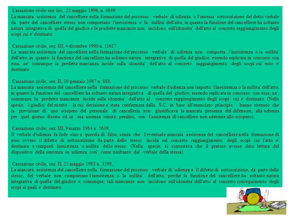 Cassazione civile sez. lav., 25 maggio 1996, n. 4849