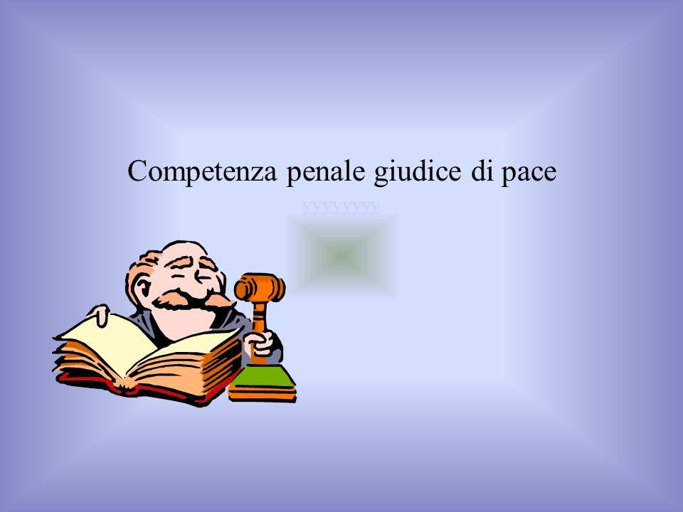 Competenza penale giudice di pace