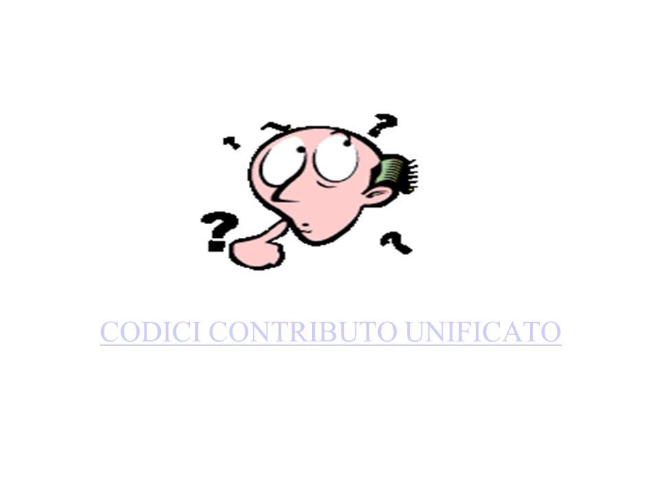 CODICI CONTRIBUTO UNIFICATO