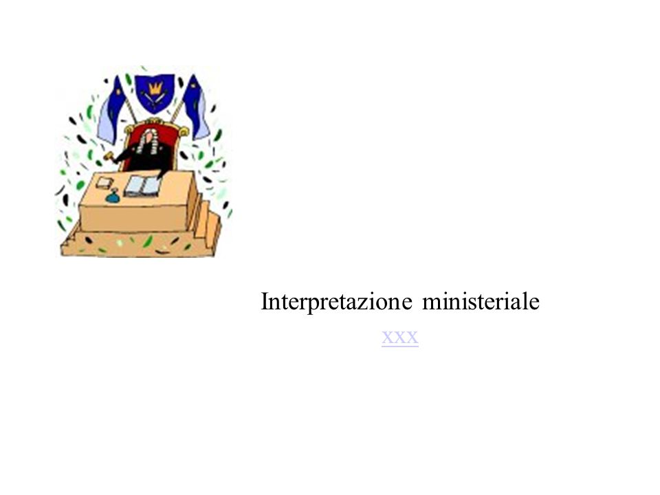 Interpretazione ministeriale