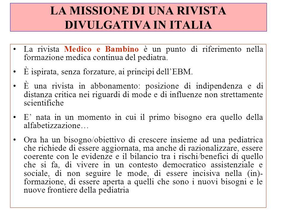 LA MISSIONE DI UNA RIVISTA DIVULGATIVA IN ITALIA