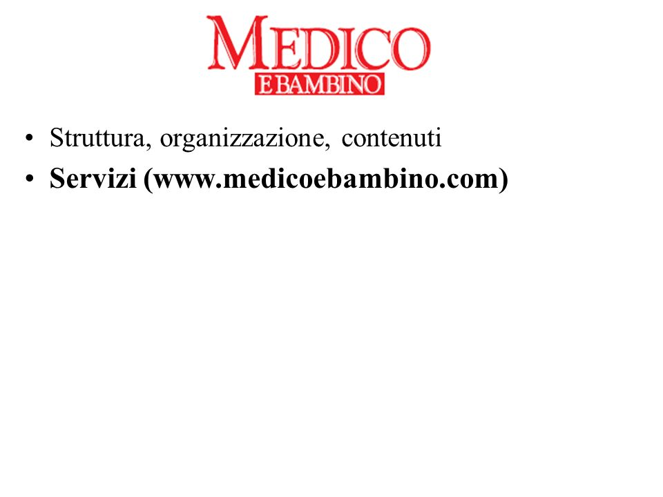 Servizi (www.medicoebambino.com)