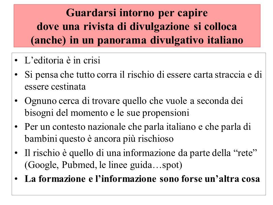 Guardarsi intorno per capire dove una rivista di divulgazione si colloca (anche) in un panorama divulgativo italiano