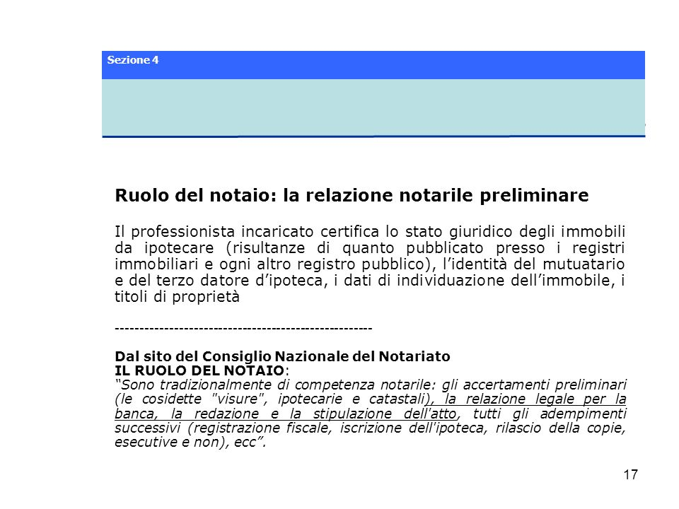 Ruolo del notaio: la relazione notarile preliminare