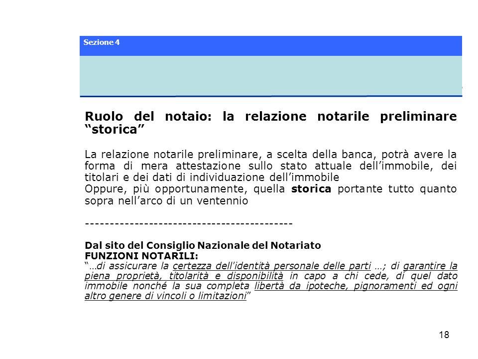 Ruolo del notaio: la relazione notarile preliminare storica