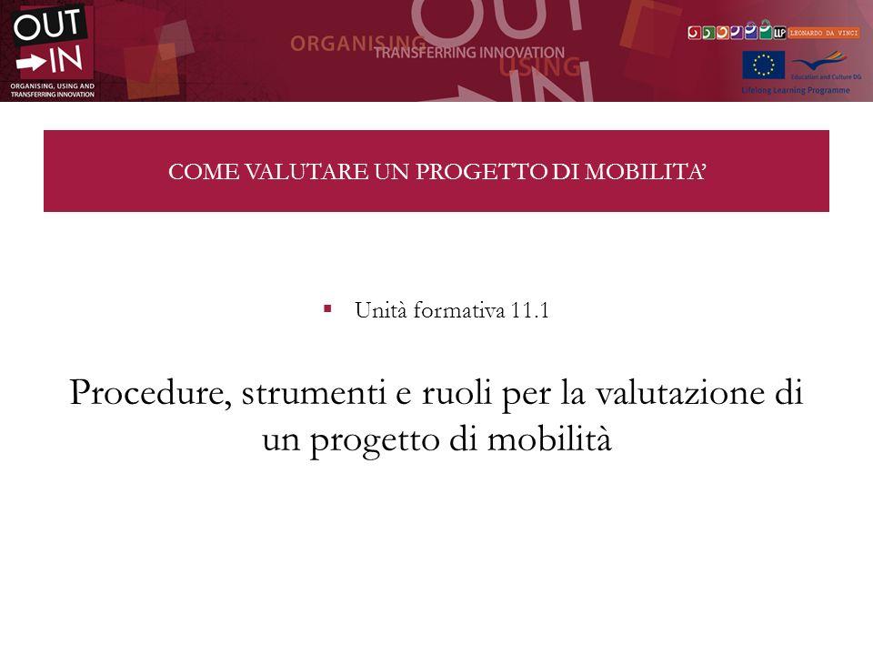 COME VALUTARE UN PROGETTO DI MOBILITA'