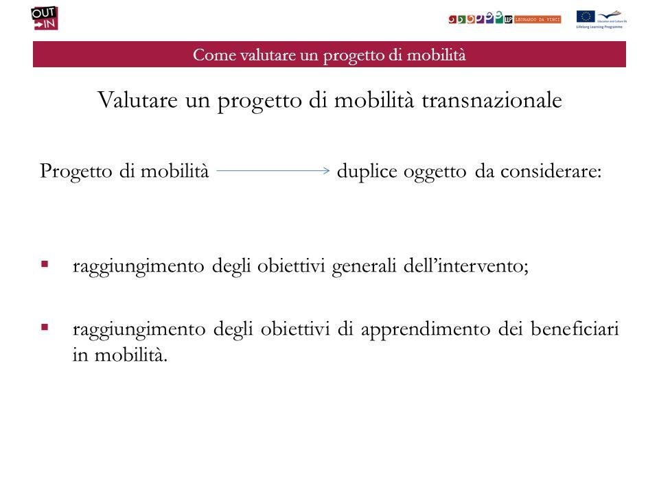 Come valutare un progetto di mobilità