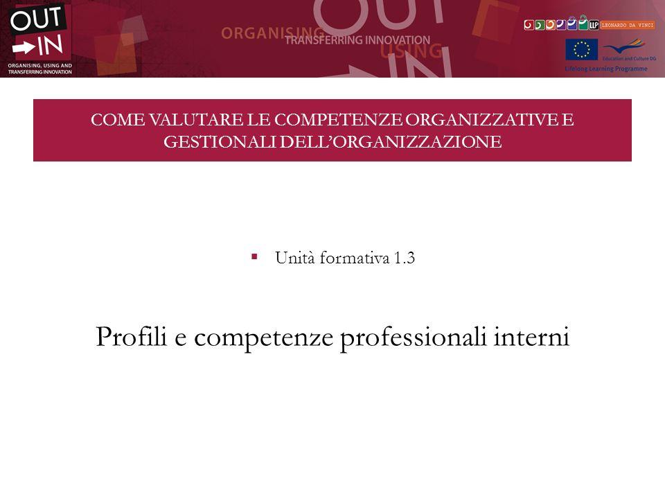 Profili e competenze professionali interni