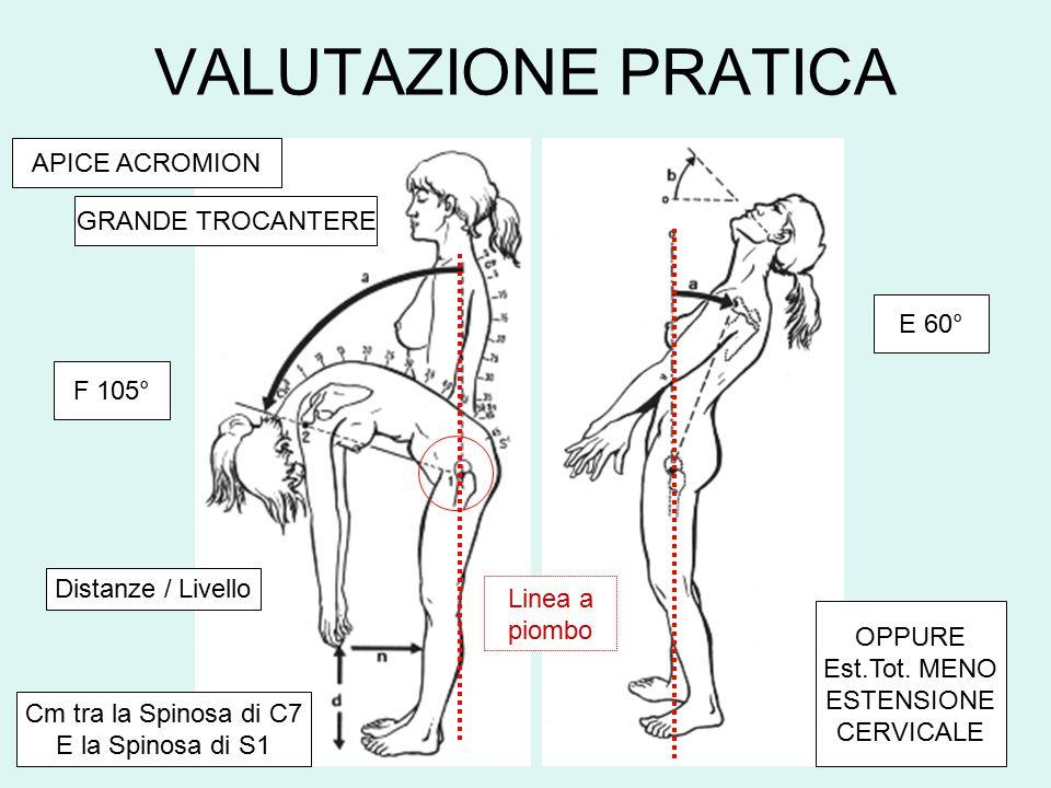 VALUTAZIONE PRATICA APICE ACROMION GRANDE TROCANTERE E 60° F 105°