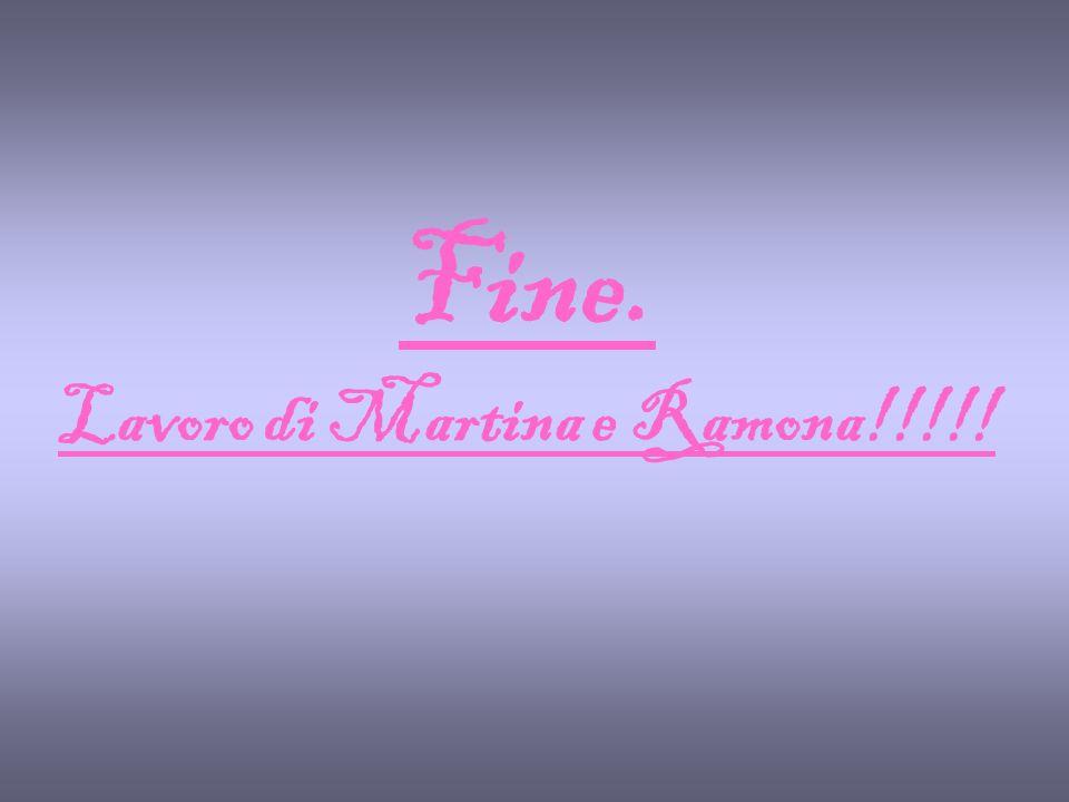 Fine. Lavoro di Martina e Ramona!!!!!