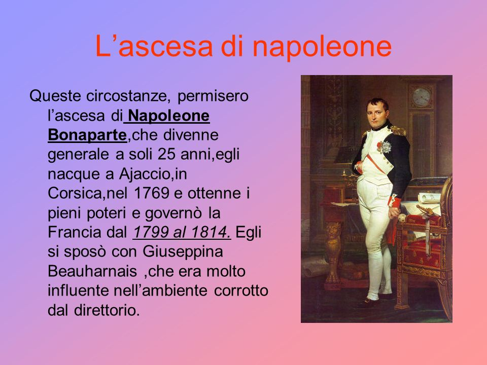 L'ascesa di napoleone