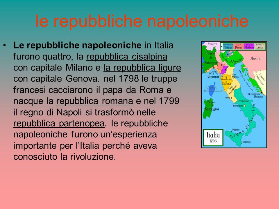 le repubbliche napoleoniche