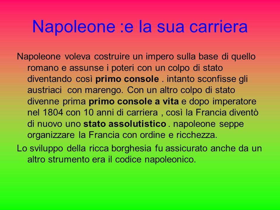 Napoleone :e la sua carriera