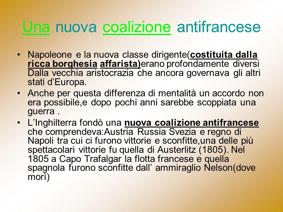 Una nuova coalizione antifrancese