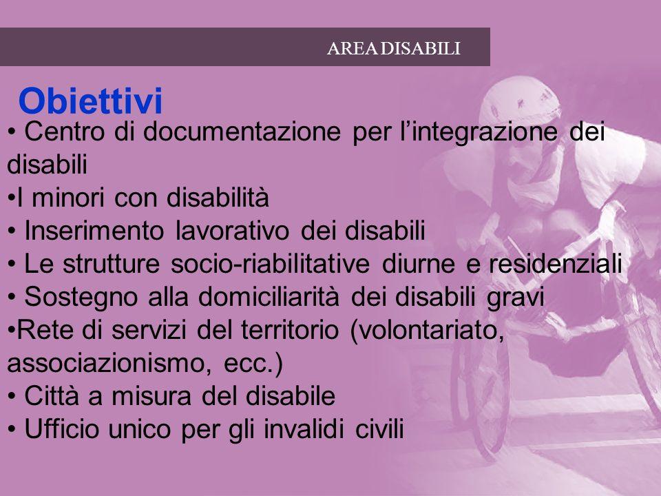 Obiettivi Centro di documentazione per l'integrazione dei disabili