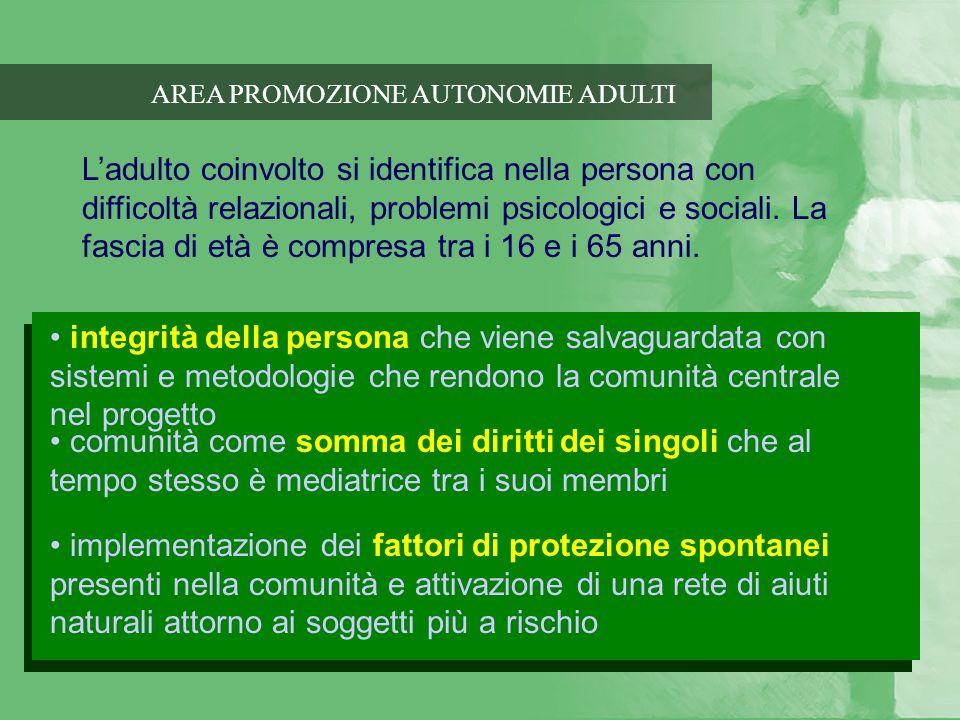 AREA PROMOZIONE AUTONOMIE ADULTI