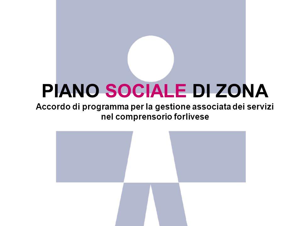 PIANO SOCIALE DI ZONA Accordo di programma per la gestione associata dei servizi.