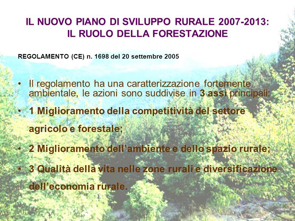 1 Miglioramento della competitività del settore agricolo e forestale;