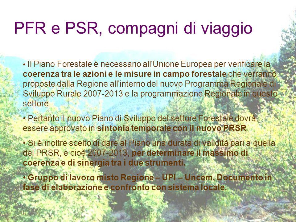 PFR e PSR, compagni di viaggio