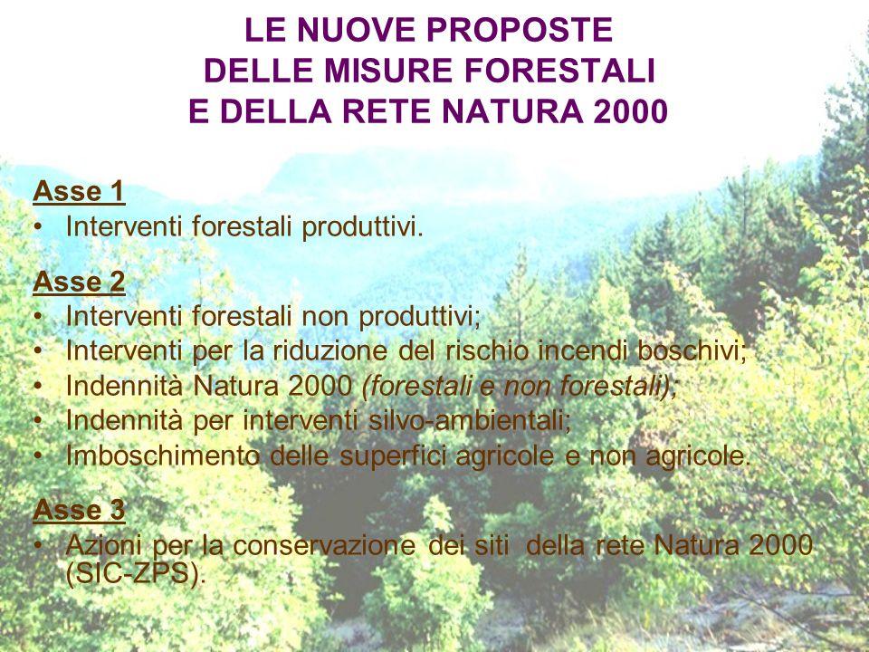 LE NUOVE PROPOSTE DELLE MISURE FORESTALI E DELLA RETE NATURA 2000