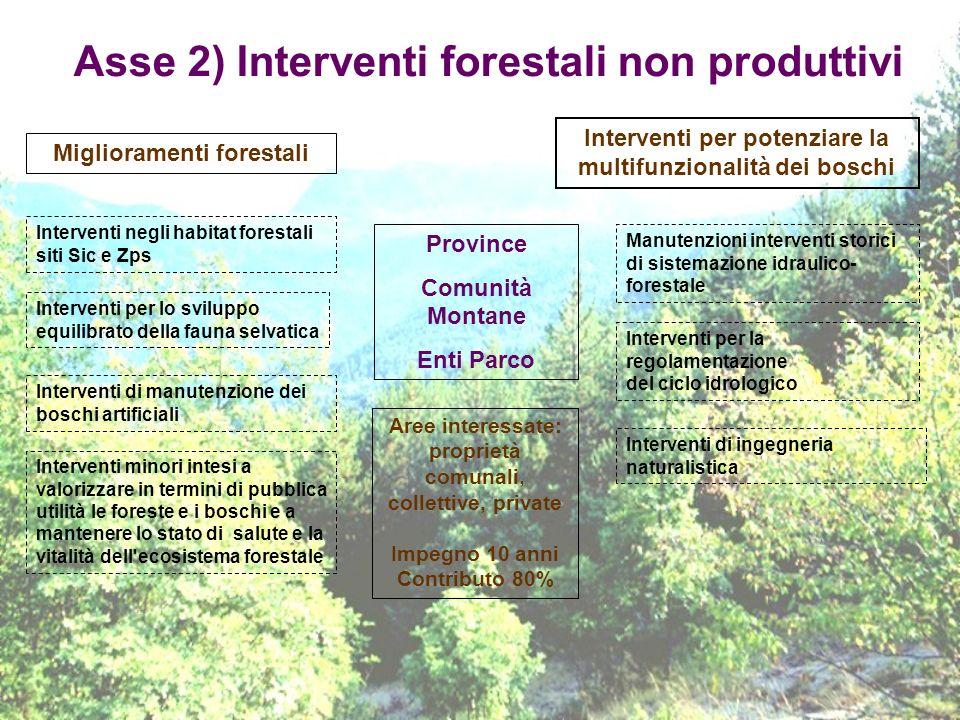 Asse 2) Interventi forestali non produttivi