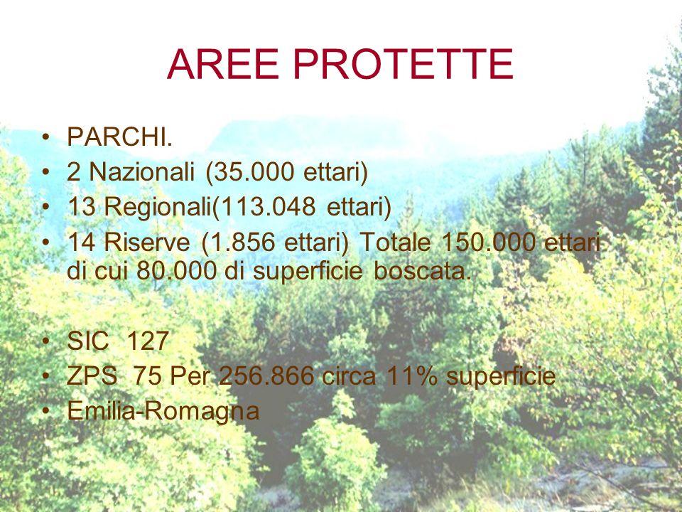 AREE PROTETTE PARCHI. 2 Nazionali (35.000 ettari)