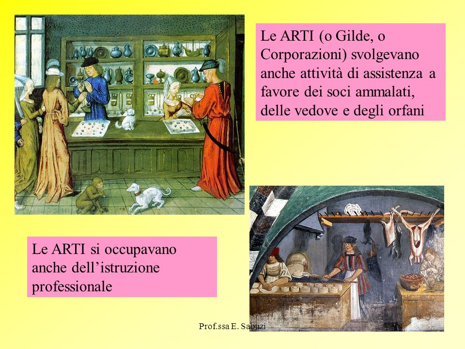 Le ARTI si occupavano anche dell'istruzione professionale