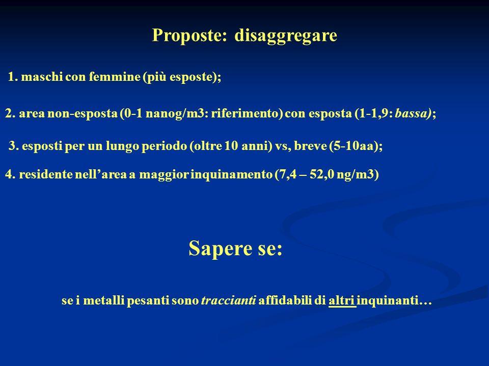 Proposte: disaggregare