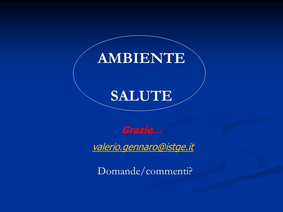 AMBIENTE SALUTE Grazie… valerio.gennaro@istge.it Domande/commenti