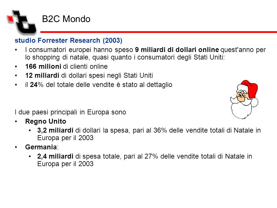 B2C Mondo studio Forrester Research (2003)