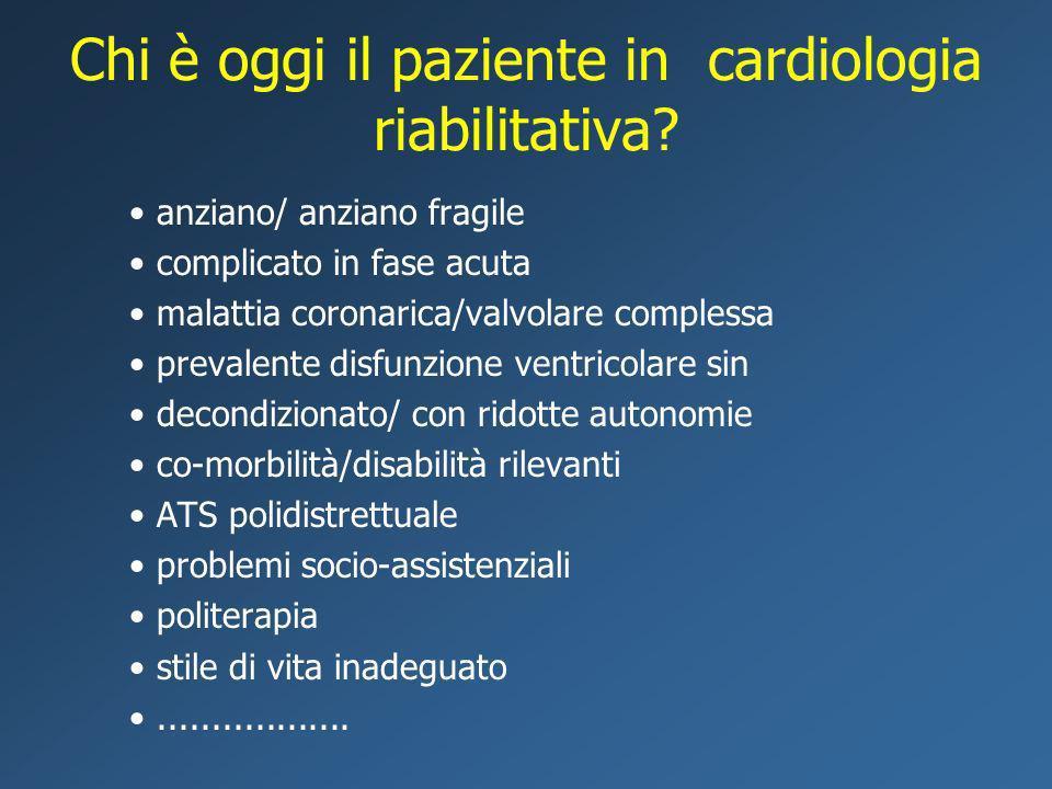 Chi è oggi il paziente in cardiologia riabilitativa