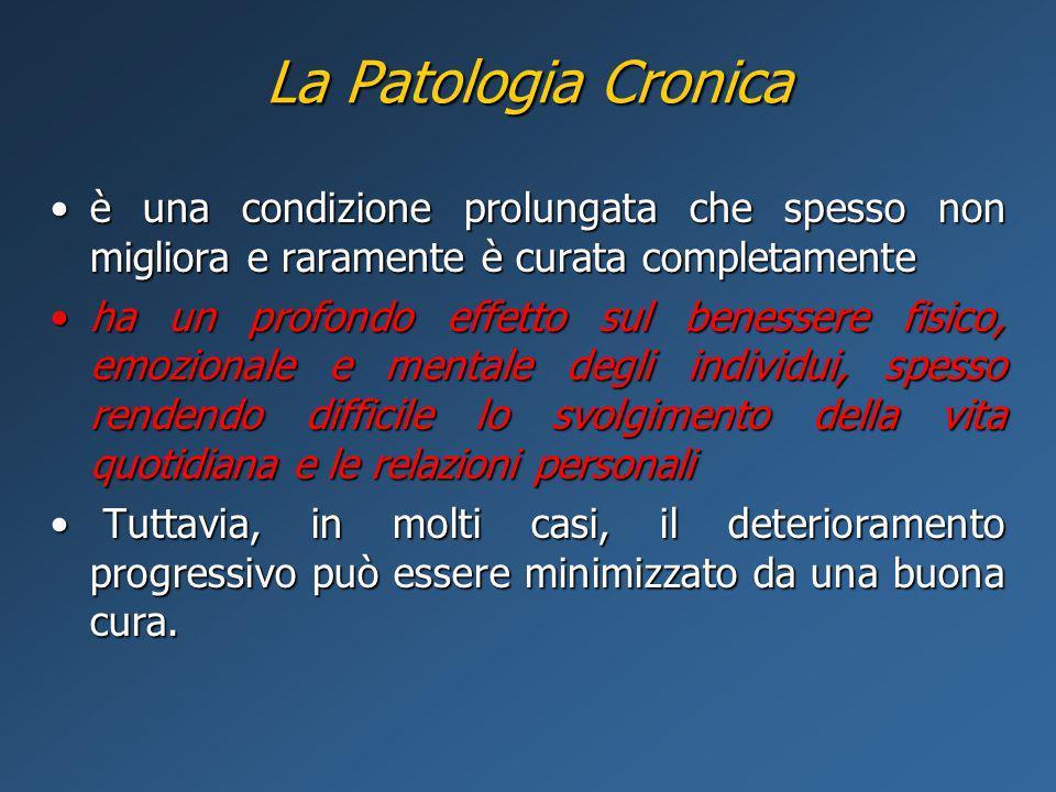 La Patologia Cronica è una condizione prolungata che spesso non migliora e raramente è curata completamente.