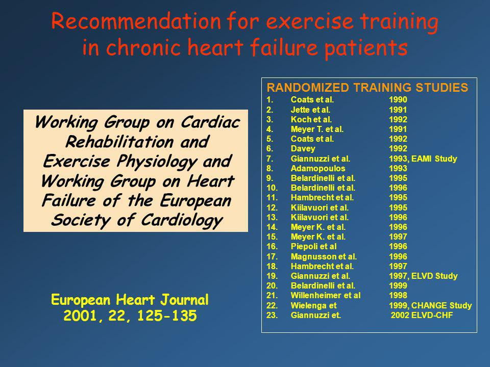 European Heart Journal 2001, 22, 125-135