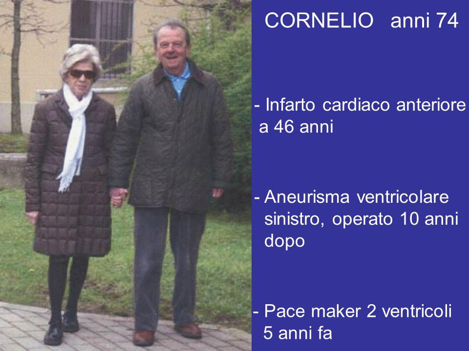 CORNELIO anni 74 Infarto cardiaco anteriore a 46 anni
