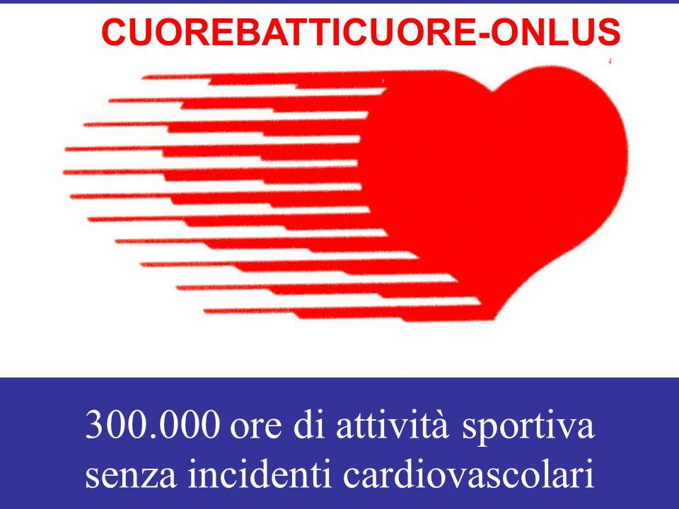 300.000 ore di attività sportiva senza incidenti cardiovascolari