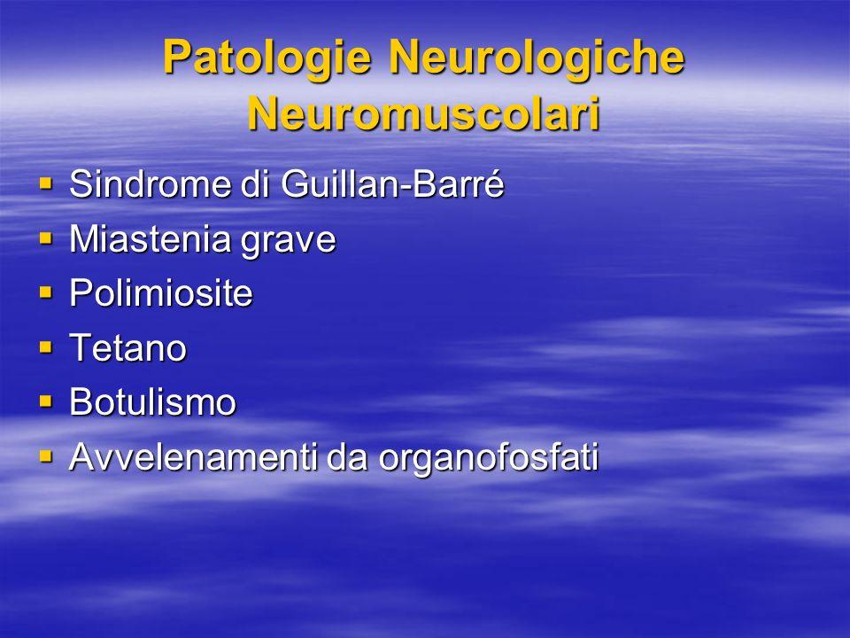 Patologie Neurologiche Neuromuscolari