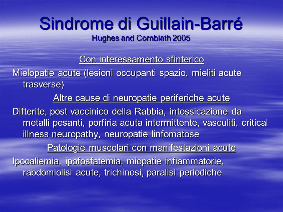 Sindrome di Guillain-Barré Hughes and Cornblath 2005
