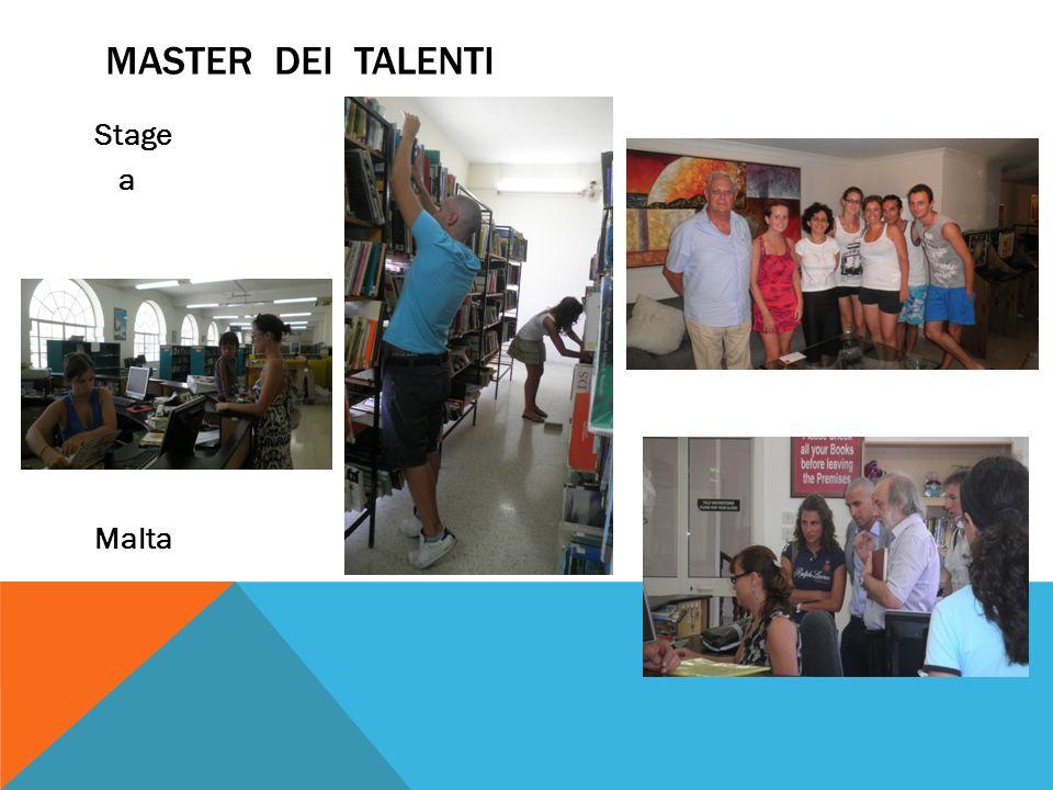 Master dei talenti Stage a Malta
