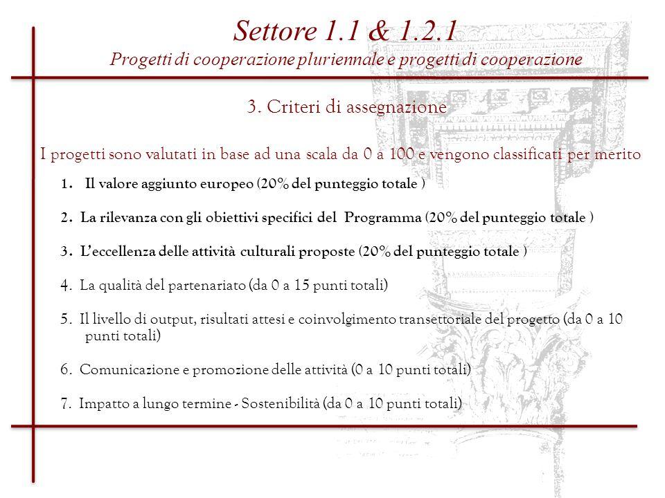 3. Criteri di assegnazione