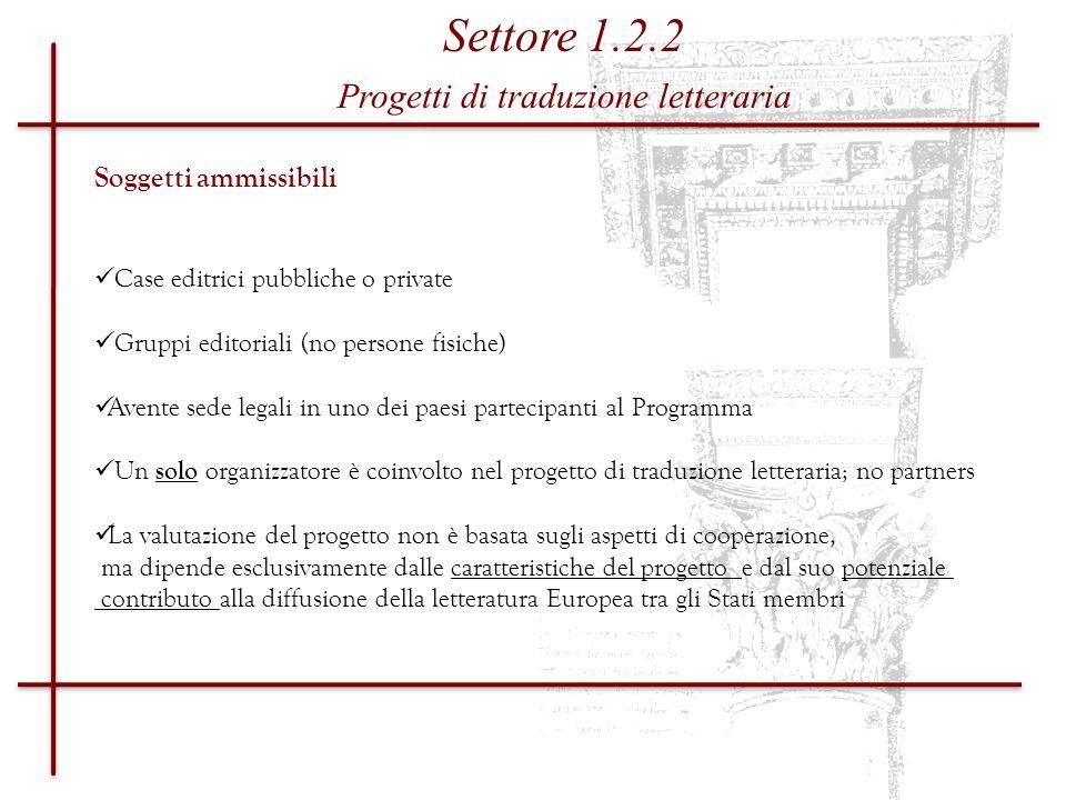 Progetti di traduzione letteraria