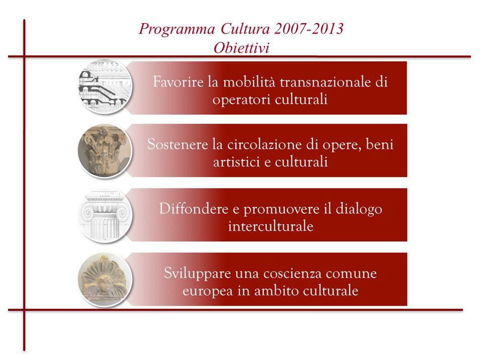 Programma Cultura 2007-2013 Obiettivi