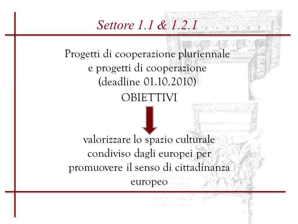 Progetti di cooperazione pluriennale e progetti di cooperazione