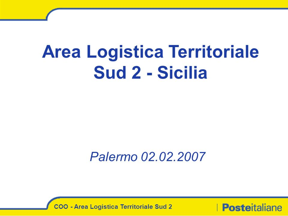 Area Logistica Territoriale Sud 2 - Sicilia