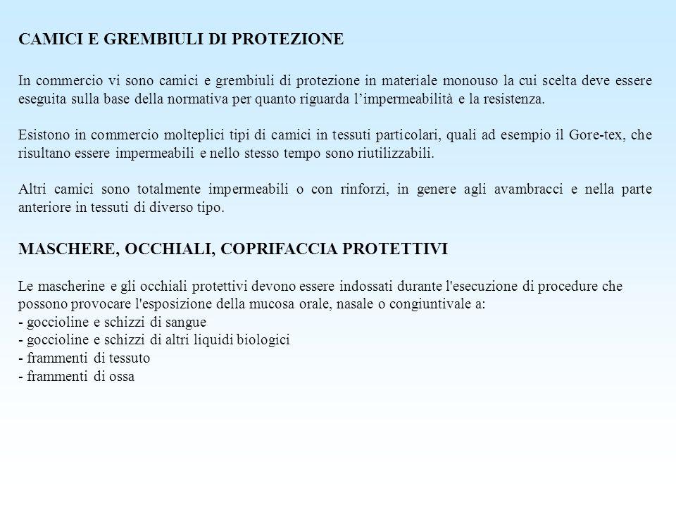 CAMICI E GREMBIULI DI PROTEZIONE