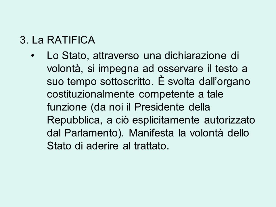 3. La RATIFICA