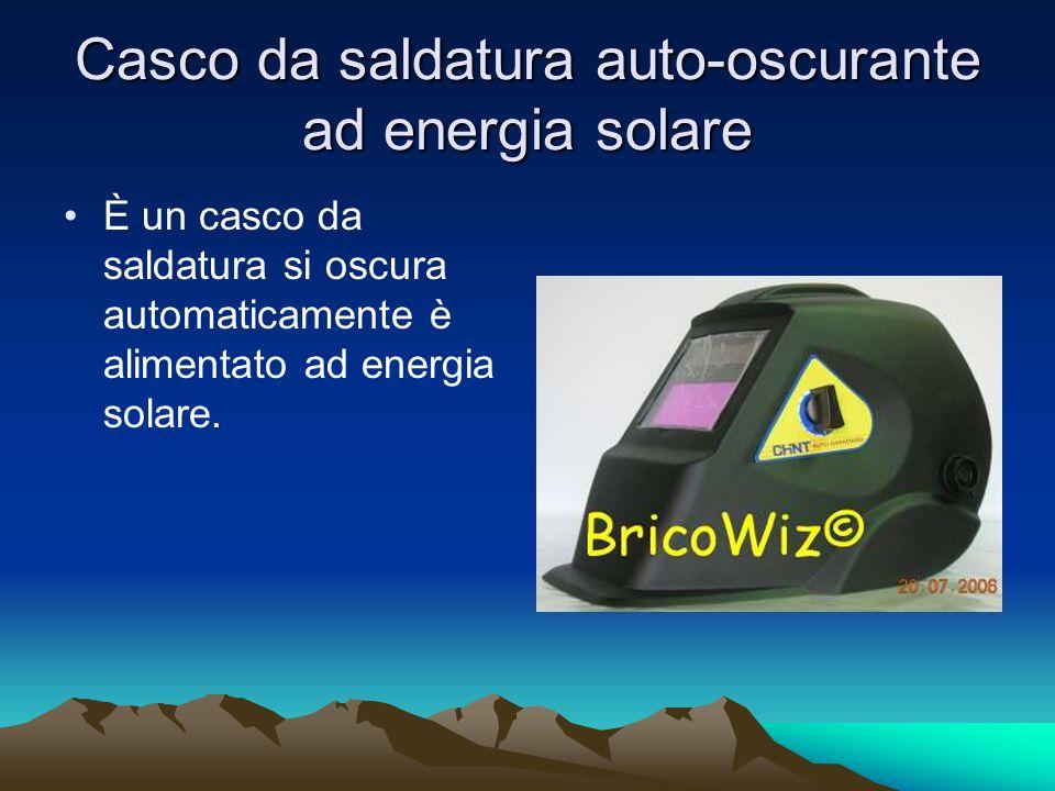Casco da saldatura auto-oscurante ad energia solare