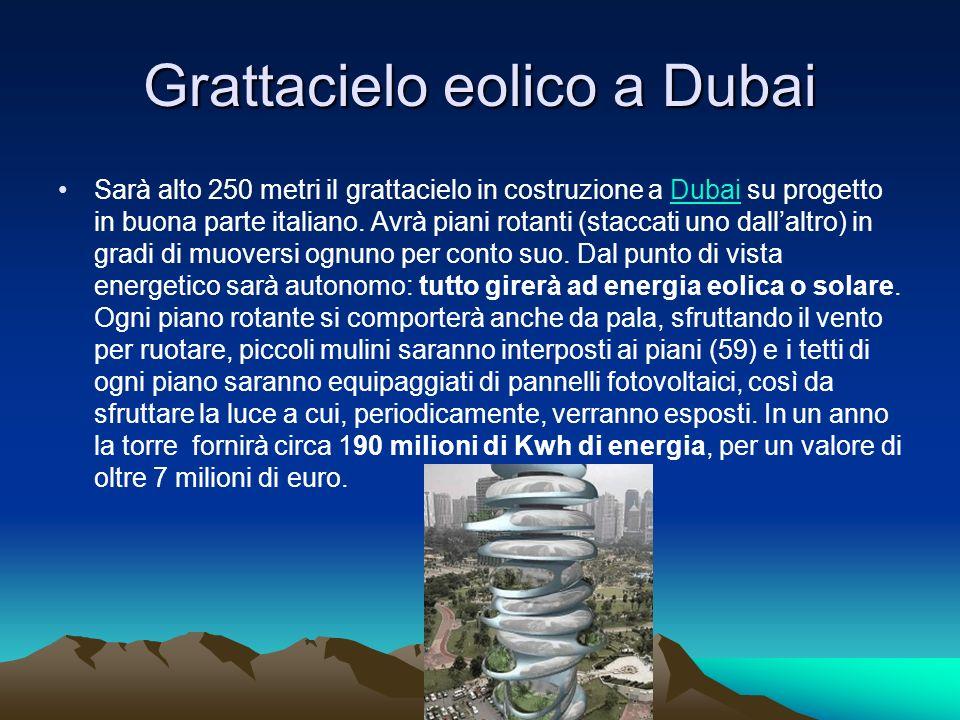 Grattacielo eolico a Dubai