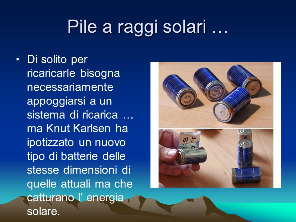 Pile a raggi solari …
